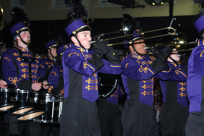 The Bardstown High School band marched in the parade.