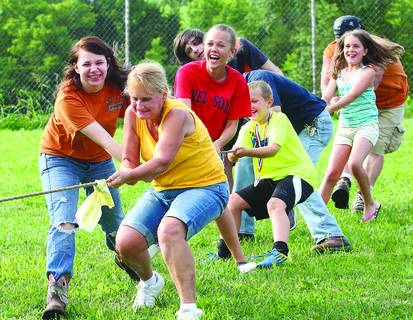 Bloomfield held its annual Party at the Park Saturday with a fun-filled day featuring activities for children and adults, including the tug-of-war.