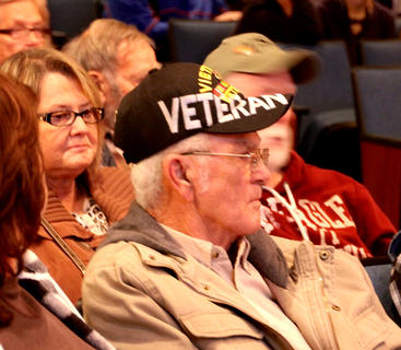 Several veterans attended the Veterans Day ceremony Monday morning at Bardstown High School.