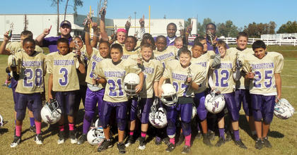 The Bardstown Middle School Gold squad picked up a 19-18 win over their BMS Purple counterparts to win the Bardstown-Nelson County Youth Football League's Senior Division championship.