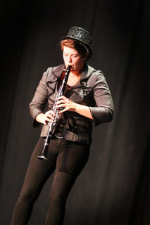 Nelson County High School student Miranda Culver plays the clarinet during the Distinguished Young Woman program.