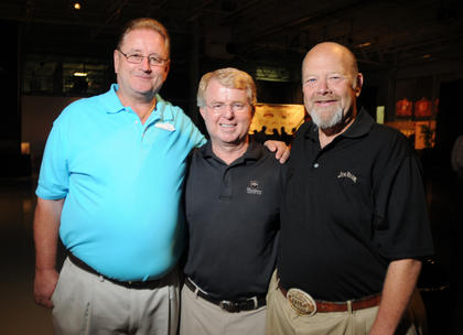 State Senator Jimmy Higdon, Representative David Floyd and Jim Beam Distiller Fred Noe pose for a photo at The Kentucky Bourbon All-Star Sampler at the Guthrie Opportunity Center Wednesday.