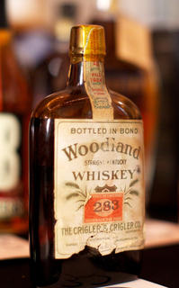 One of several rare bottles of whiskey that were auctioned Saturday.