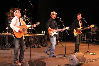 """Musical group, Exile, was in Bardstown Monday night for a stop on its """"Getting' Back to It"""" reunion tour. The group, which hails from Richmond, topped the Billboard charts in 1978 with """"Kiss You All Over."""" The group transitioned from rock 'n' roll to country music in 1983 with its first country hit, """"High Cost Of Leaving."""" Other well known hits include """"She's A Miracle,"""" """"The Closer You Get,"""" and """"You Thrill Me."""" Band members, from left, Les Taylor, J.P. Pennington and Sonny Lemaire performed for the crowd."""