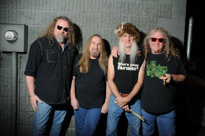 The Kentucky Headhunters play for an audience at the Kentucky Bourbon Festival Saturday.