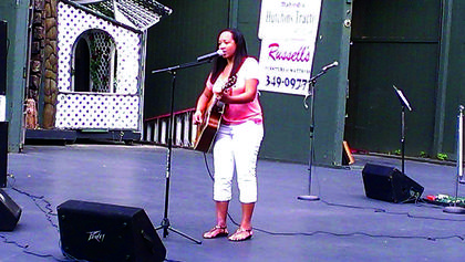 "Jossie Gomez performed ""Country Strong,"" from the movie of the same name featuring Gwyneth Paltrow during the Texaco Country Showdown Saturday at the J.Dan. Talbott Amphitheatre."