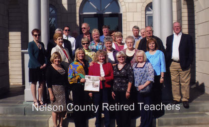 The Nelson County Retired Teachers Association and friends took The Kentucky Standard to Donamire Farm, home of John and Mira Ball. Mr. Ball conducted a tour of the farm and then the group attended opening day of the races in Keeneland in Lexington.