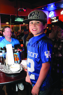 Brodi Cook may be a little guy, but he's one of the Kentucky Wildcats' biggest fans. His favorite is Julius Randle.