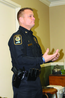 Bardstown Police Chief Rick McCubbin discusses a proposed ordinance to track the sale of stolen precious and base metals through a national database, Leads Online, at the City Council's work session Jan. 7.