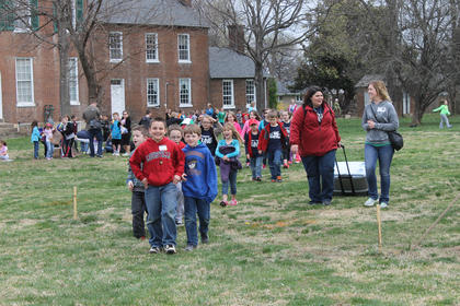 Friday was a big day for students at Bardstown Colonial Days. This group of first, second and third-graders is from Mount Washington Elementary School in Bullitt County.