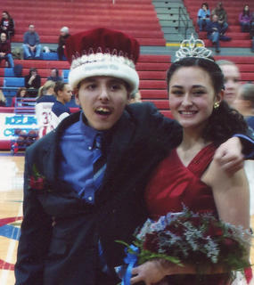 The 2014 Nelson County Basketball homecoming king and queen are Scott Boone and Jamie Cahoe.