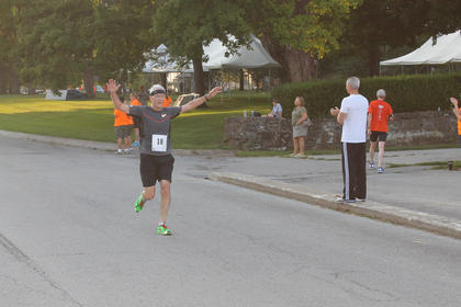 William Davis, 65, of Harrodsburg, was one of the early finishers in the Run for the Health of It 5K Saturday in Bardstown. The race was a benefit for the Nelson County Community Clinic.