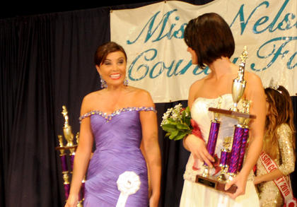 Alex Jordan Perkins, 21,  Hardin County reacts to being crowned Miss Nelson County Fair.