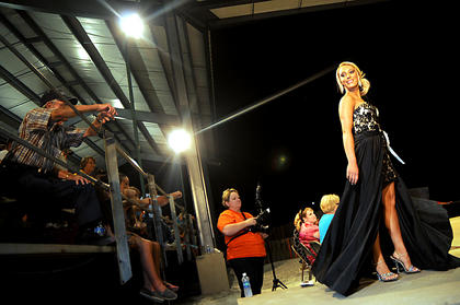 Kayla Elaine Raynolds walks the runway during the pageant.
