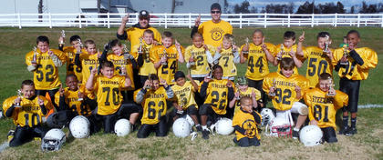 The Steelers took the Pee-Wee Division championship of the Bardstown-Nelson County Youth Football League with a 26-0 win over the Cowboys.