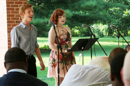 "Maxwell Swangel and Kaity Paschetto sing ""Two Sleepy People"" at the Rotunda Show Sunday."