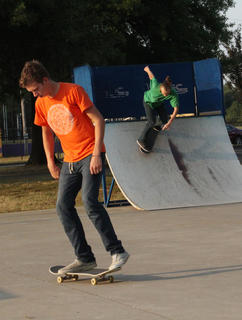 Local skateboarders enjoyed a nice day recently at the Jones Avenue Skate Park in Bardstown.