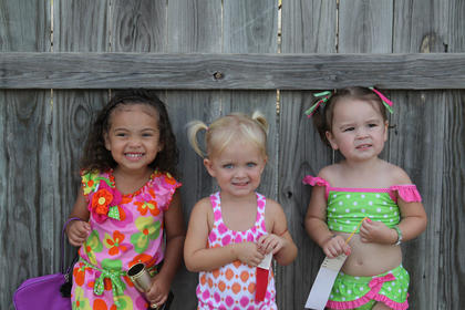 Winners of the Nelson County Fair Tiny Tots Contest-Girls 25-36 month category were first place, Camila Alexandria Lusco, daughter of Margaret Amelia Hamilton and Patrick Alexander Lusco of Bardstown; second place, Hailee Michelle Hardin, daughter of Donnie DeWayne and Stephanie Paige Hardin, Bardstown; and third place, Kaleigh Lynn Martin, daughter of Renee and David Martin, of Bardstown.