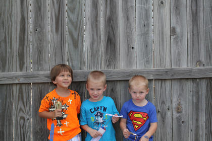 Winners of the Nelson County Fair Tiny Tots Contest-Boys 37-48 month category were first place Javier Roberto Sanchez-Gibbs, son of Jennifer Rojas and Martin Sanchez of Bloomfield; second place, William Joseph Clayton, son of Colette Hess and Billy Joe Clayton of Boston; and third place, Drake Cornish, son of Ashley and Floyd Cornish of Chaplin.