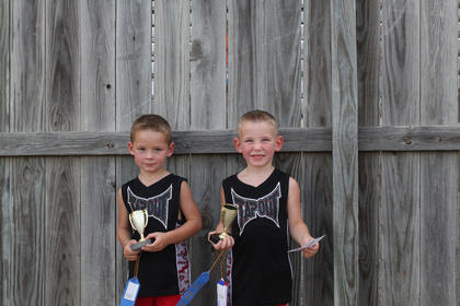Winners of the Nelson County Fair Tiny Tots Contest-Multiple Births category were Chad and Cole Cissell, children of Amanda Cissell of Bardstown.