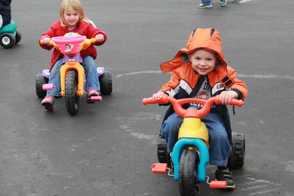 As part of Little Angels Primary House's annual Trike-a-thon, a fundraiser for St. Jude Children's Hospital, participating students collected donations from family and friends and then got to ride their bikes and trikes for an hour of the school day May 4.