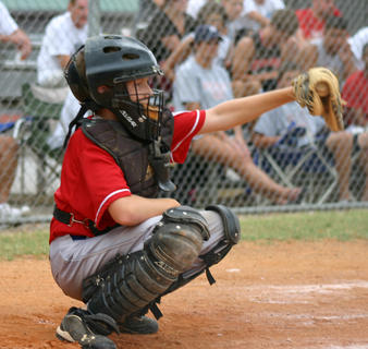 Keegan Roberson of the Nelson County 12-year-old All-Stars frames a strike July 5 against Vally Sports.