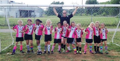 The U10 Twisted Sisters were champs of their division at Dean Watts Park.