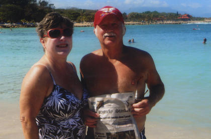 Gary and Ann Downs took The Kentucky Standard to Aruba on a 11-day six island southern Caribbean cruise.