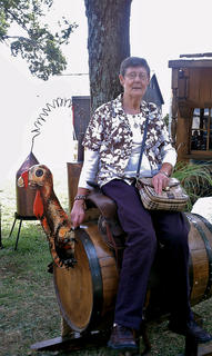 Catherine Harris submitted a picture of her 78-year-old mother, Georgia Cecil, enjoying herself at the Kentucky Bourbon Festival last weekend.