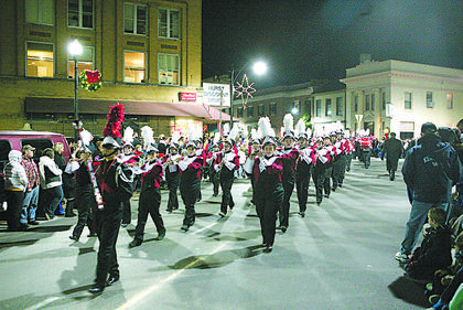 The Nelson County High School marching band.