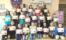 """<div class=""""source"""">Submitted Photo</div><div class=""""image-desc"""">The Bardstown Elementary Students of the Month for February 2018 are: back row, left to right: Jakada Thompson, Joenita Wani, Lil Johnson, Shelby Montgomery, and Davien Richardson.  Middle row: Crystal Simon, Jaden Taylor, Achilles Newton, Lydia Woods, Samantha White, Aubrey Scroggins, Talin Keith, and Ethan Rust.  Front row: LeAnn Hatfield, J'Zarah Hazelwood, Charlie Hill, Raylee Brothers, Teagan Catalano, Ria Gupta, Derrick Greenwell, Emma Mattingly, and Connor Waters. Absent from photo:  Maria Strader and Carlie King.</div><div class=""""buy-pic""""></div>"""