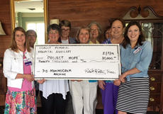 "<div class=""source"">Submitted</div><div class=""image-desc"">At a meeting in May, members of the Flaget Hospital Auxiliary presented a check for $20,000 to the Project Hope program. Project Hope is the hospital foundation's effort to expand services at the Cancer Center. Pictured, from left, are Jennifer Nolan, president of Flaget Hospital, Auxiliary members Mozena Raisor, Lynda Weeks, Rita Carter, Rose Hamilton, Margaret Mattingly, Paula Filiatreau, Yvonne Jones and Andrea Shepherd, Director of Kentucky One Health Major Gifts and Foundation Communications.</div><div class=""buy-pic""></div>"