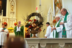 """<div class=""""source"""">KACIE GOODE/The Kentucky Standard</div><div class=""""image-desc"""">St. Michaels Church in Fairfield recently celebrated its 225th anniversary, and had several guests attend the Sunday service, including Archbishop Joseph E. Kurtz.</div><div class=""""buy-pic""""><a href=""""/photo_select/89751"""">Buy this photo</a></div>"""