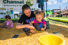 """<div class=""""source""""></div><div class=""""image-desc"""">Emily Watson and her little friend Peyton Prewitt play in the corn pit while attending Ag Day at the fairgrounds. In the background is Mollie Hamilton.</div><div class=""""buy-pic""""><a href=""""/photo_select/87407"""">Buy this photo</a></div>"""