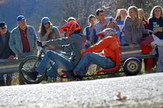"<div class=""source"">KACIE GOODE/The Kentucky Standard</div><div class=""image-desc"">Racers ride a two-seater Sunday during the 2017 Cissal Hill Big Wheel Race.</div><div class=""buy-pic""><a href=""/photo_select/91222"">Buy this photo</a></div>"