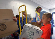 "<div class=""source"">KACIE GOODE/The Kentucky Standard</div><div class=""image-desc"">Students assist in loading boxes of supplies Friday to be sent to different schools in Texas. Cox's Creek Elementary students helped organize the drive, a collaboration with other schools in the area, for a project-based learning assignment.</div><div class=""buy-pic""><a href=""/photo_select/89656"">Buy this photo</a></div>"