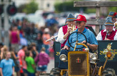 "<div class=""source"">KACIE GOODE/The Kentucky Standard</div><div class=""image-desc"">Retired fire chief Frank Hall drives the Bourbon City Bavarians down Main Street during Saturday's Iron Horse Festival parade in New Haven.</div><div class=""buy-pic""><a href=""/photo_select/98055"">Buy this photo</a></div>"