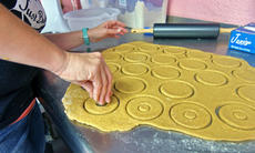 "<div class=""source"">KACIE GOODE/The Kentucky Standard</div><div class=""image-desc"">Sweet potato donuts are cut out in preparation of Just Barked's grand opening on Friday.</div><div class=""buy-pic""><a href=""/photo_select/88744"">Buy this photo</a></div>"