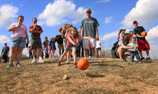 """<div class=""""source"""">KACIE GOODE/The Kentucky Standard</div><div class=""""image-desc"""">The pumpkin roll was a popular family event at Bernheim's ColorFest over the weekend.</div><div class=""""buy-pic""""><a href=""""/photo_select/80416"""">Buy this photo</a></div>"""