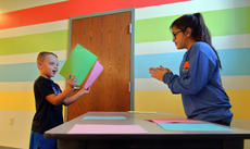 "<div class=""source"">KACIE GOODE/The Kentucky Standard</div><div class=""image-desc"">A student plays a matching game friday at Bluegrass Christian Academy. Sixth graders hosted in-school carnival activities to raise money for South Sudan.</div><div class=""buy-pic""><a href=""/photo_select/89659"">Buy this photo</a></div>"