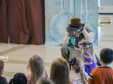 """<div class=""""source"""">KACIE GOODE/The Kentucky Standard</div><div class=""""image-desc"""">Actor John Yazzo engages his audience during an afternoon production at the Nelson County Early Learning Center. Yazzo and partner Nora Moutrane are part of Bright Star, a touring theatre company which specializes in educational performances with topics ranging from bullying to nutrition.</div><div class=""""buy-pic""""><a href=""""/photo_select/84152"""">Buy this photo</a></div>"""