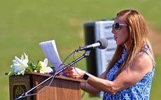 "<div class=""source"">KACIE GOODE/The Kentucky Standard</div><div class=""image-desc"">Amy Ellis speaks about her husband during a memorial was held Friday morning for Bardstown Police Officer Jason Ellis. Ellis was shot and killed in an ambush five years ago on May 25, 2013.</div><div class=""buy-pic""><a href=""/photo_select/95631"">Buy this photo</a></div>"