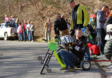 "<div class=""source"">KACIE GOODE/The Kentucky Standard</div><div class=""image-desc"">Racers get ready to compete Sunday in the Cissal Hill Big Wheel Race. In yellow, Kurt Edelen would later take grand champion for the fifth time.</div><div class=""buy-pic""><a href=""/photo_select/91227"">Buy this photo</a></div>"