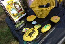 """<div class=""""source"""">KACIE GOODE/The Kentucky Standard</div><div class=""""image-desc"""">Rocks are painted in honor of Amber Tingle, who, along with friend Billie Rose Watts, was killed in a crash in August.</div><div class=""""buy-pic""""><a href=""""/photo_select/90908"""">Buy this photo</a></div>"""