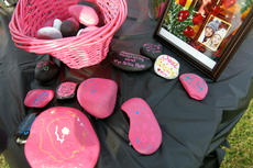 """<div class=""""source"""">KACIE GOODE/The Kentucky Standard</div><div class=""""image-desc"""">Rocks are painted in honor of Billie Rose Watts, who, along with friend Amber Tingle, was killed in a crash in August.</div><div class=""""buy-pic""""><a href=""""/photo_select/90909"""">Buy this photo</a></div>"""