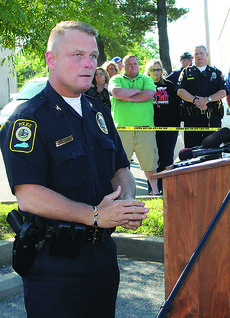"""<div class=""""source""""></div><div class=""""image-desc"""">Bardstown Police Chief Rick McCubbin speaks at a press conference the morning Officer Jason Ellis was killed. Recently, the chief received a letter threatening the lives of other officers. State and federal authorities are investigating that threat and others.</div><div class=""""buy-pic""""><a href=""""/photo_select/47888"""">Buy this photo</a></div>"""