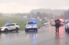 "<div class=""source"">TREY CRUMBIE/The Kentucky Standard</div><div class=""image-desc"">Emergency crews responded Friday to a two-vehicle collision on Springfield Road (U.S. 150) that killed two people and injured two others.</div><div class=""buy-pic""></div>"