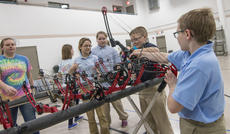 """<div class=""""source"""">KACIE GOODE/The Kentucky Standard</div><div class=""""image-desc"""">Students of the All Saints Archery Club were able to continue their practice Monday at St. Gregory's despite the majority of their equipment being stolen over the weekend. Area schools, organizations and donors have been working to lend or give the club bows, arrows and other equipment so they can be ready for the region 5 tournament in a few weeks.</div><div class=""""buy-pic""""><a href=""""/photo_select/83132"""">Buy this photo</a></div>"""
