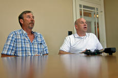 """<div class=""""source"""">KACIE GOODE/The Kentucky Standard</div><div class=""""image-desc"""">Roger and Mike Ballard speak to media about the death of their brother, Tommy Ballard, and the $20,000 reward they have posted for an arrest and conviction.</div><div class=""""buy-pic""""><a href=""""/photo_select/88295"""">Buy this photo</a></div>"""