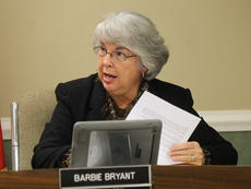 """<div class=""""source"""">RANDY PATRICK/The Kentucky Standard</div><div class=""""image-desc"""">Bardstown City Clerk Barbie Bryant, above, retired Friday.</div><div class=""""buy-pic""""><a href=""""/photo_select/87763"""">Buy this photo</a></div>"""